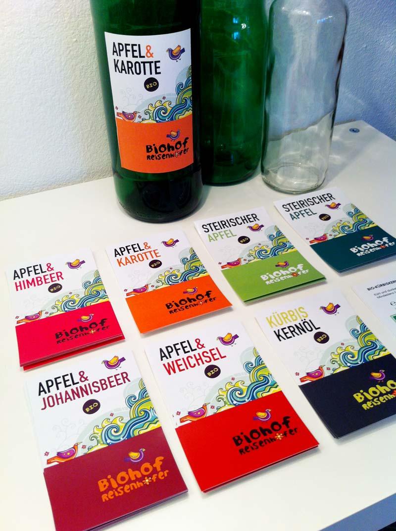 etikettendesign biohof reisenhofer