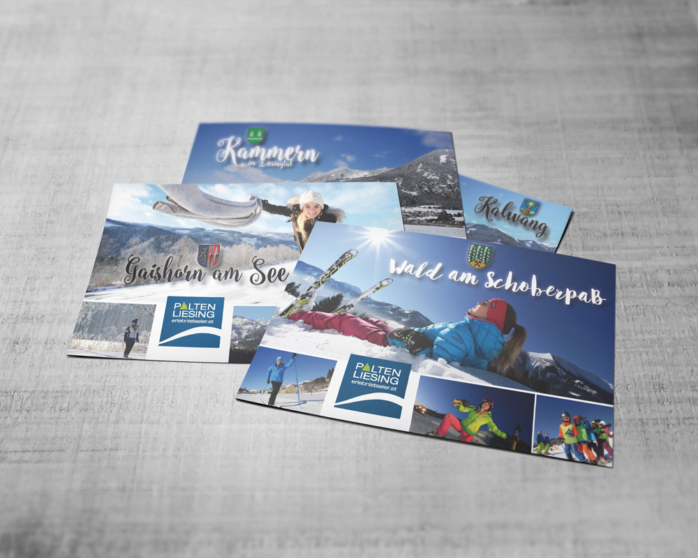 tourismusverband palten-liesing erlebnistäler winterpostkarten